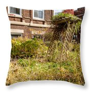 Overgrown Fall Garden Throw Pillow