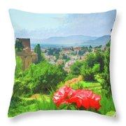 Overlooking Granada Throw Pillow