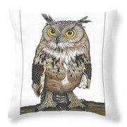 Owl In Pose Throw Pillow