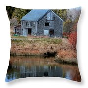Owls Head Barn Throw Pillow