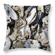 Oyster Shells Throw Pillow