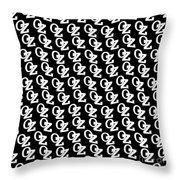 Oz Australia Black On White. Throw Pillow