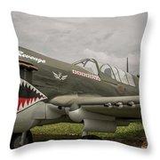 P - 40 Warhawk Throw Pillow