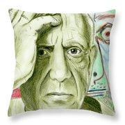 Pablo Piccaso Throw Pillow