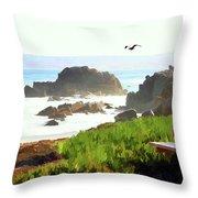 Pacific Ocean Monterey California  Throw Pillow
