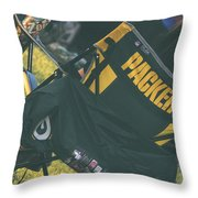 Packers Fan Throw Pillow
