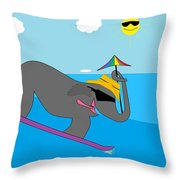 Surf Paddy Throw Pillow