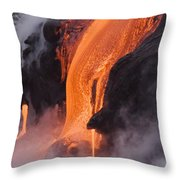 Pahoehoe Lava Flow Throw Pillow