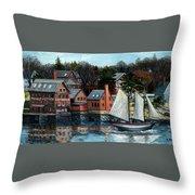 Paint Factory, Gloucester, Ma Throw Pillow