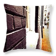 Painted Bricks Throw Pillow