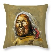 Painted Sands Of Time Throw Pillow