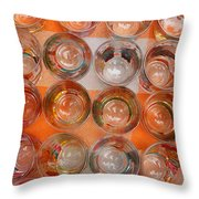 Painted Shot Glasses Throw Pillow
