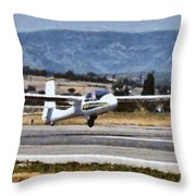Painting Of Johan Gustafsson In His Glider Throw Pillow
