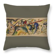 Painting With White Border Throw Pillow