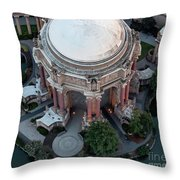 Palace Of Fine Arts Theatre In San Francisco Throw Pillow