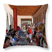 Palace Of The Governors Throw Pillow