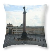Palace Place - St. Petersburg Throw Pillow