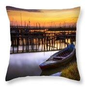 Palaffite Port Throw Pillow