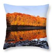 Palisades-kepler State Park - Mt. Vernon, Ia Throw Pillow