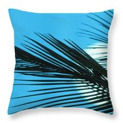 Palm Frond Silhouette Throw Pillow