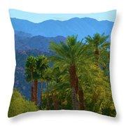 Palm Springs Mountains Throw Pillow
