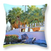 Palm Springs Welcome Throw Pillow