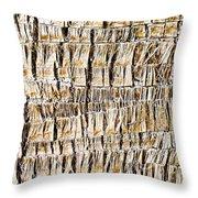 Palm Trunk Throw Pillow