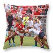 Pam Am Games Womens' 7's Throw Pillow