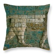 Panel With Striding Lion Throw Pillow