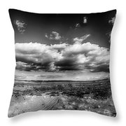 Panorama Of A Valley In Utah Desert With Blue Sky Throw Pillow