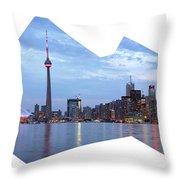 Panorama Of The City Of Toronto Throw Pillow