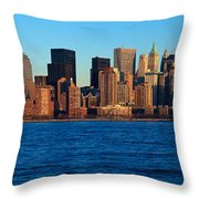 Panoramic Sunset View Of Lower Throw Pillow