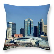 Panoramic View Of Nashville, Tennessee Throw Pillow