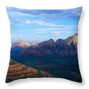 Panoramic View, Sedona, Arizona Throw Pillow
