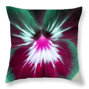 Pansy Power 71 Throw Pillow