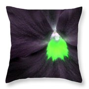 Pansy Power 73 Throw Pillow