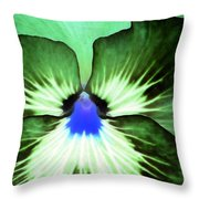 Pansy Power 75 Throw Pillow
