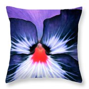 Pansy Power 76 Throw Pillow