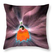 Pansy Power 79 Throw Pillow