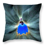 Pansy Power 81 Throw Pillow