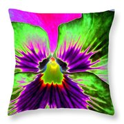 Pansy Power 82 Throw Pillow