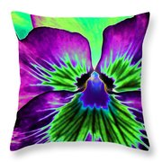 Pansy Power 84 Throw Pillow
