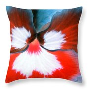 Pansy Power 86 Throw Pillow