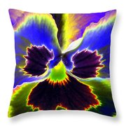 Pansy Power 87 Throw Pillow