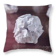 Paper Balls Throw Pillow