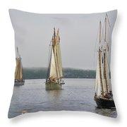 Parade Of Sails Throw Pillow