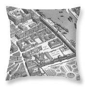Paris 1730 Throw Pillow