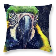 Parrot Art  Throw Pillow