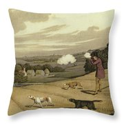 Partridge Shooting Throw Pillow