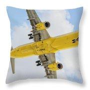Passenger Jet Coming In For Landing  Throw Pillow